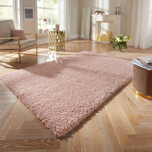 elle hochflor teppich pastel rosa 1 1