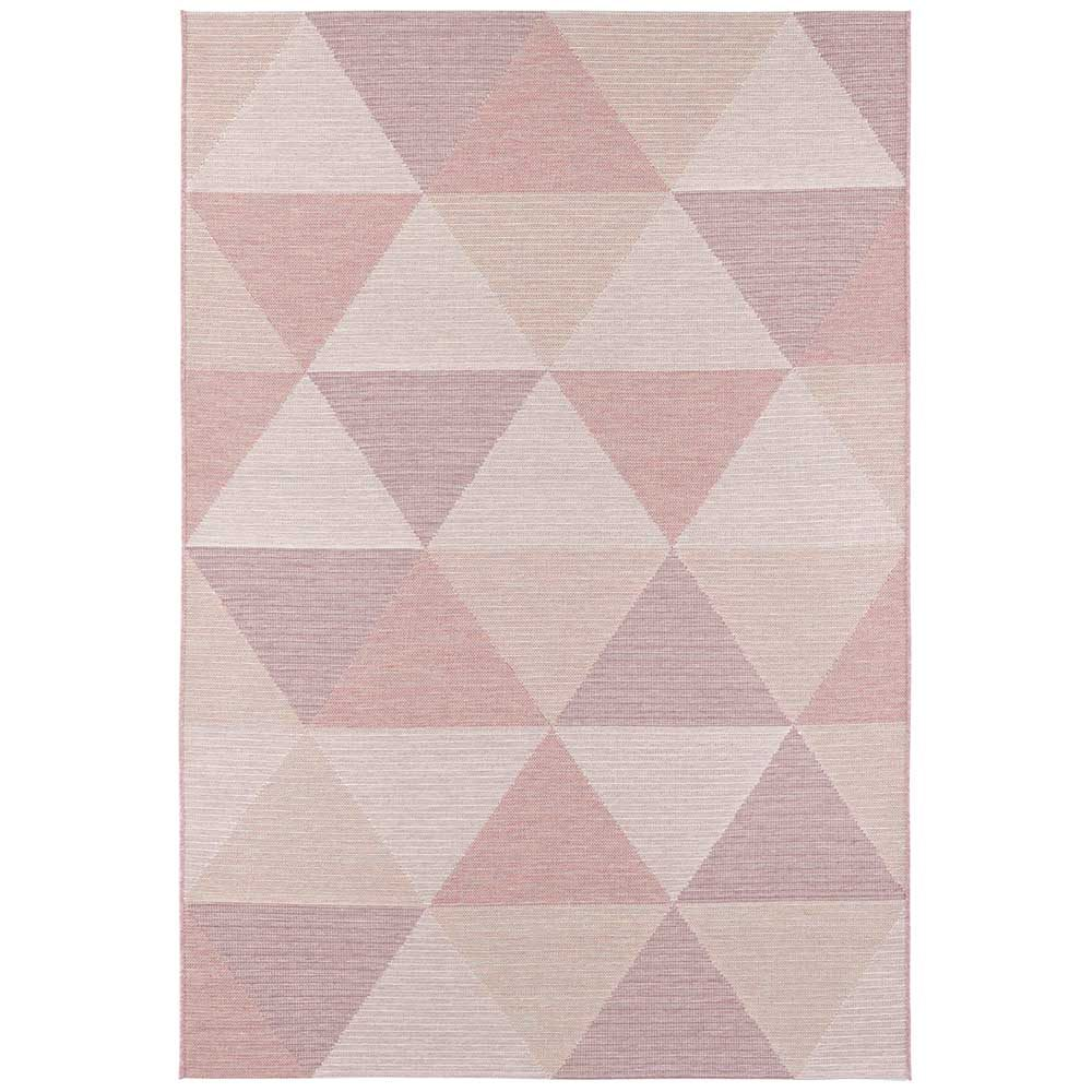 elle outdoor teppich dreieck rosa 2