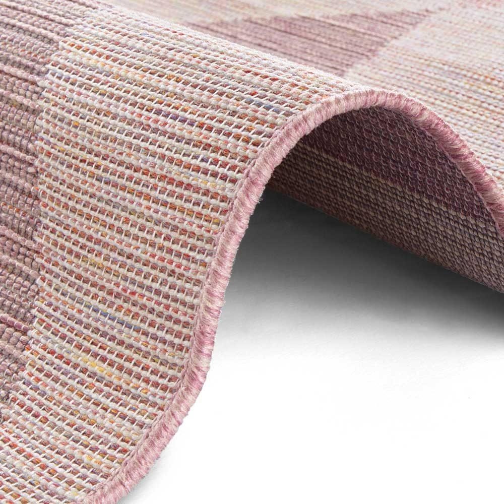 elle outdoor teppich dreieck rosa 4