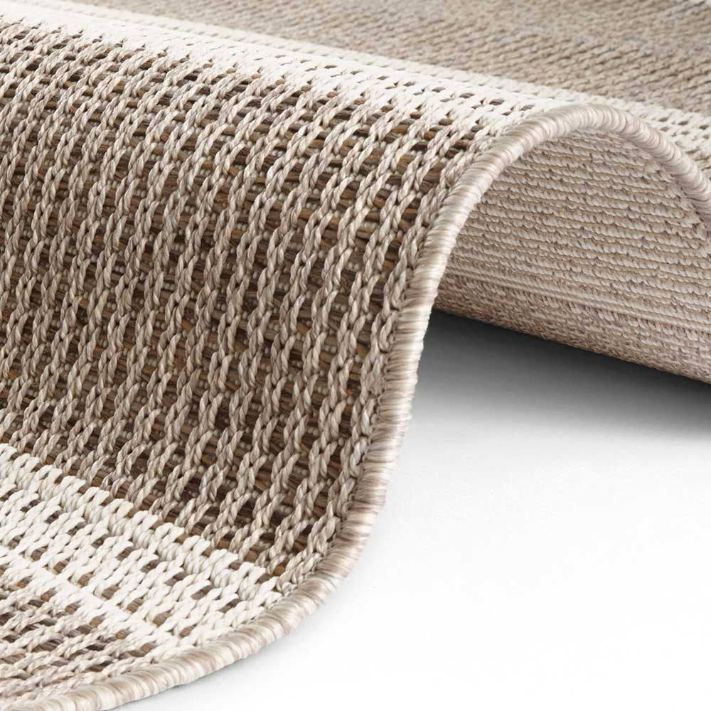 elle outdoor teppich handmade look braun 4