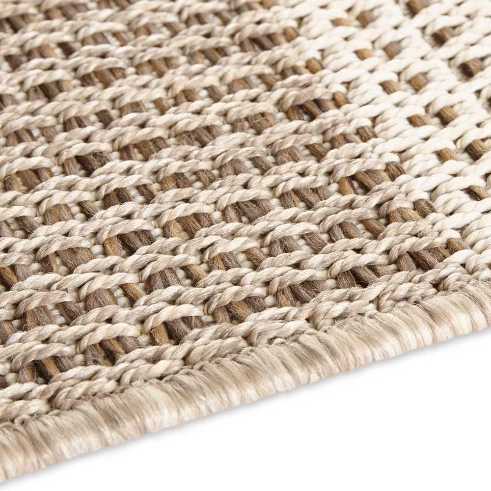 elle outdoor teppich handmade look braun 5