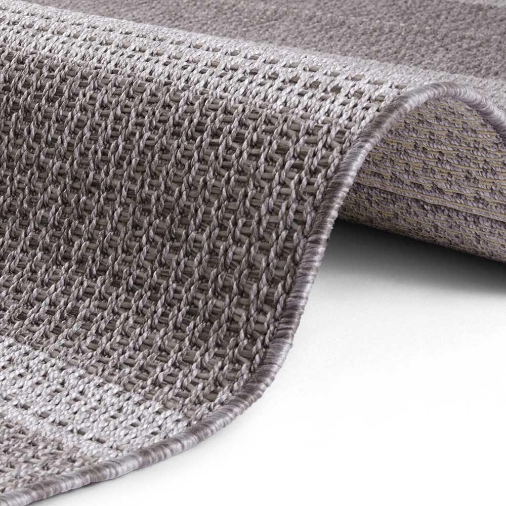elle outdoor teppich handmade look grau 4