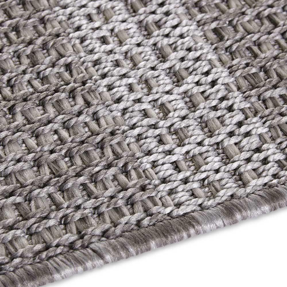 elle outdoor teppich handmade look grau 5