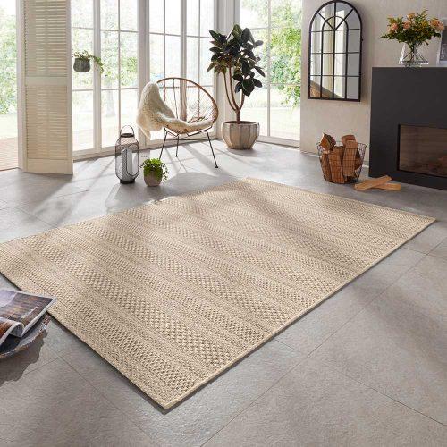 elle outdoor teppich handmade streifen braun natur 1