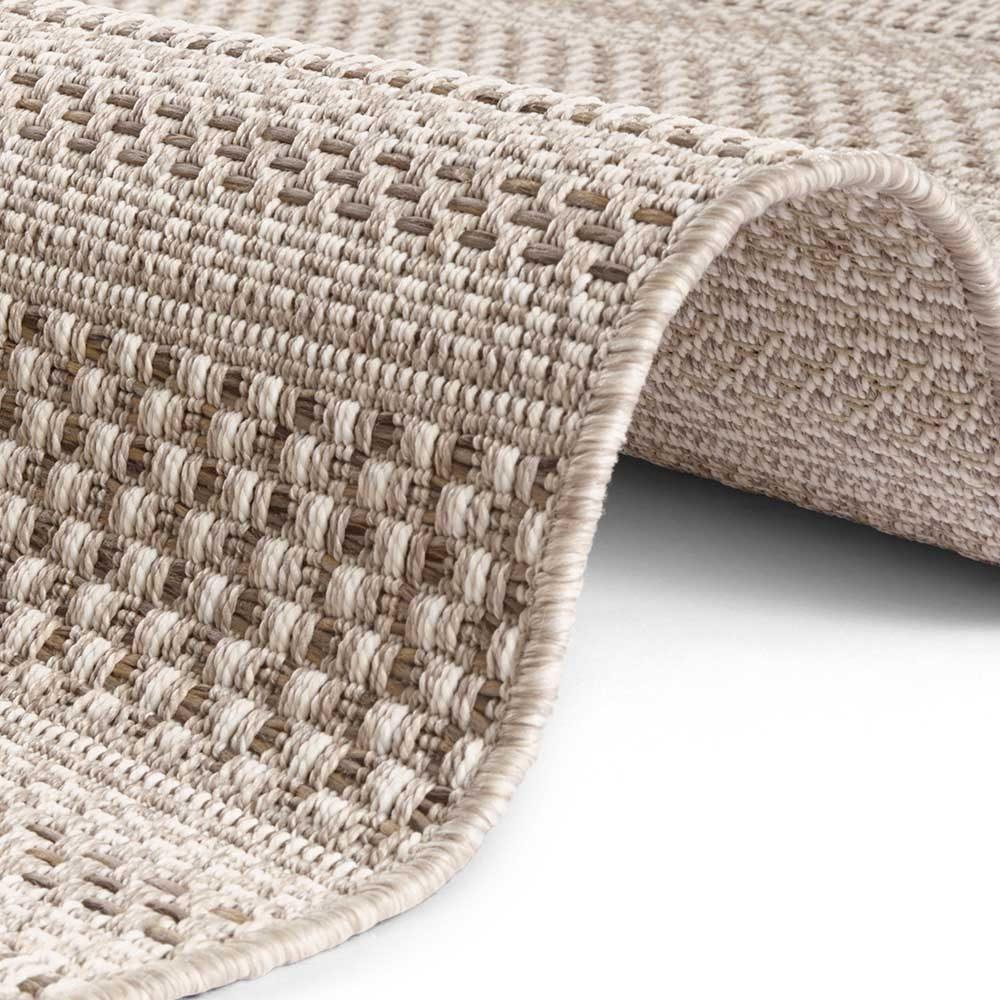 elle outdoor teppich handmade streifen braun natur 4