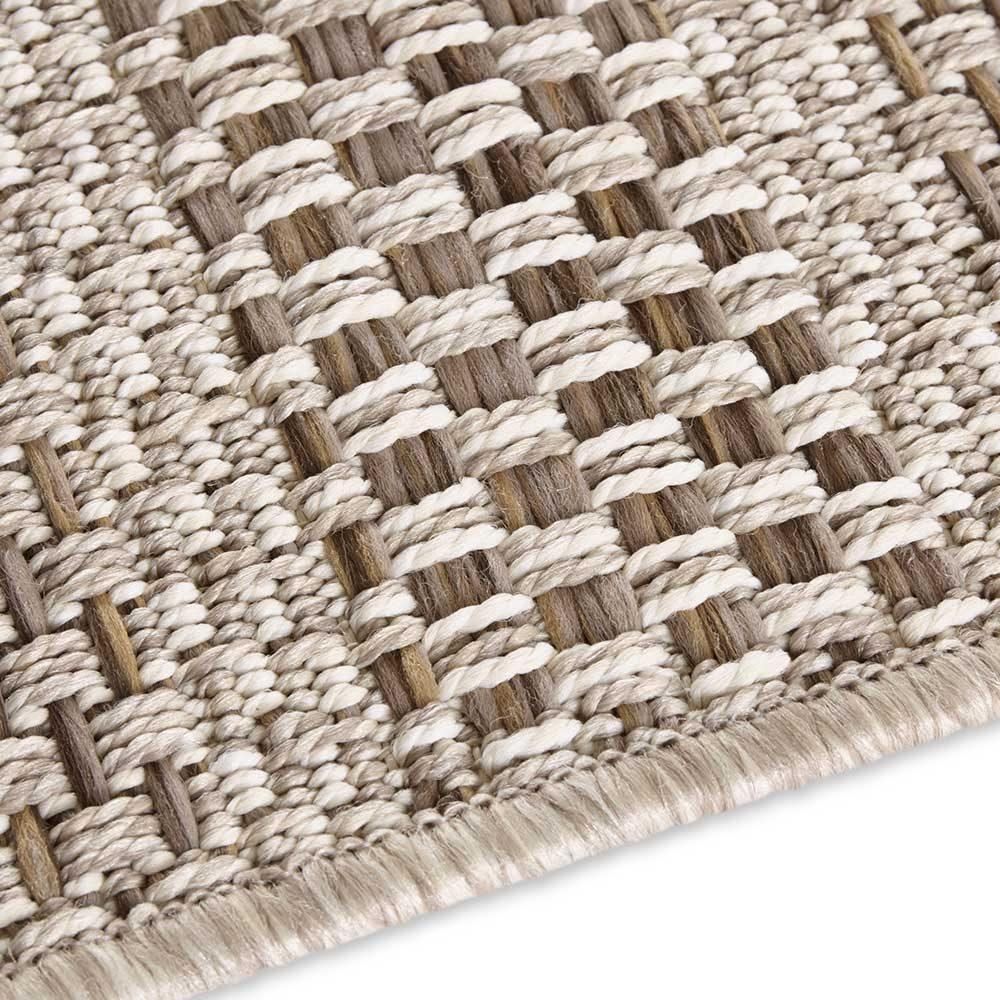 elle outdoor teppich handmade streifen braun natur 5