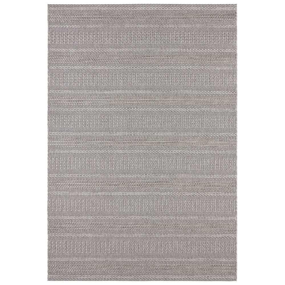 elle outdoor teppich handmade streifen grau 2