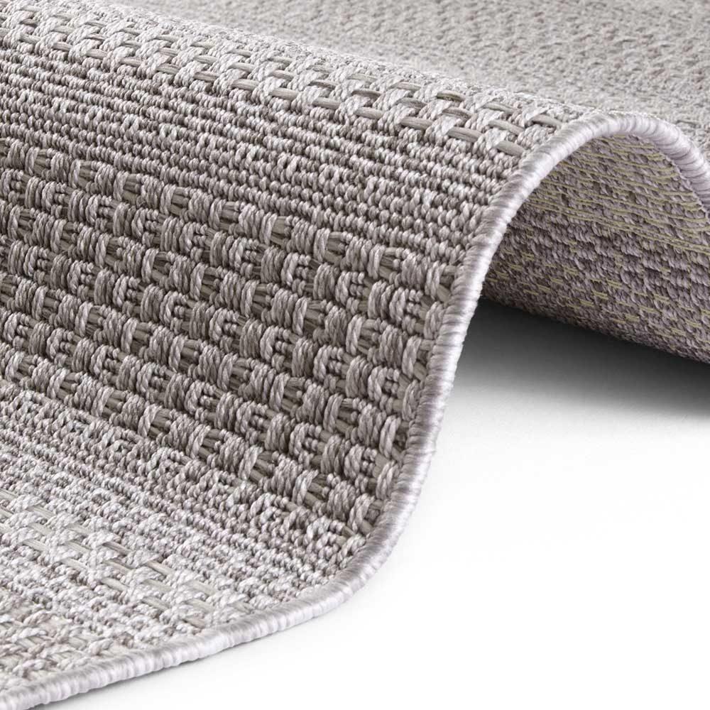elle outdoor teppich handmade streifen grau 4