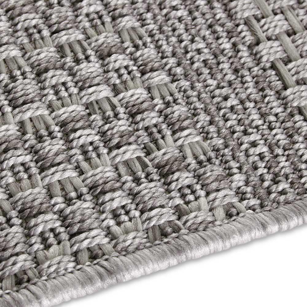 elle outdoor teppich handmade streifen grau 5