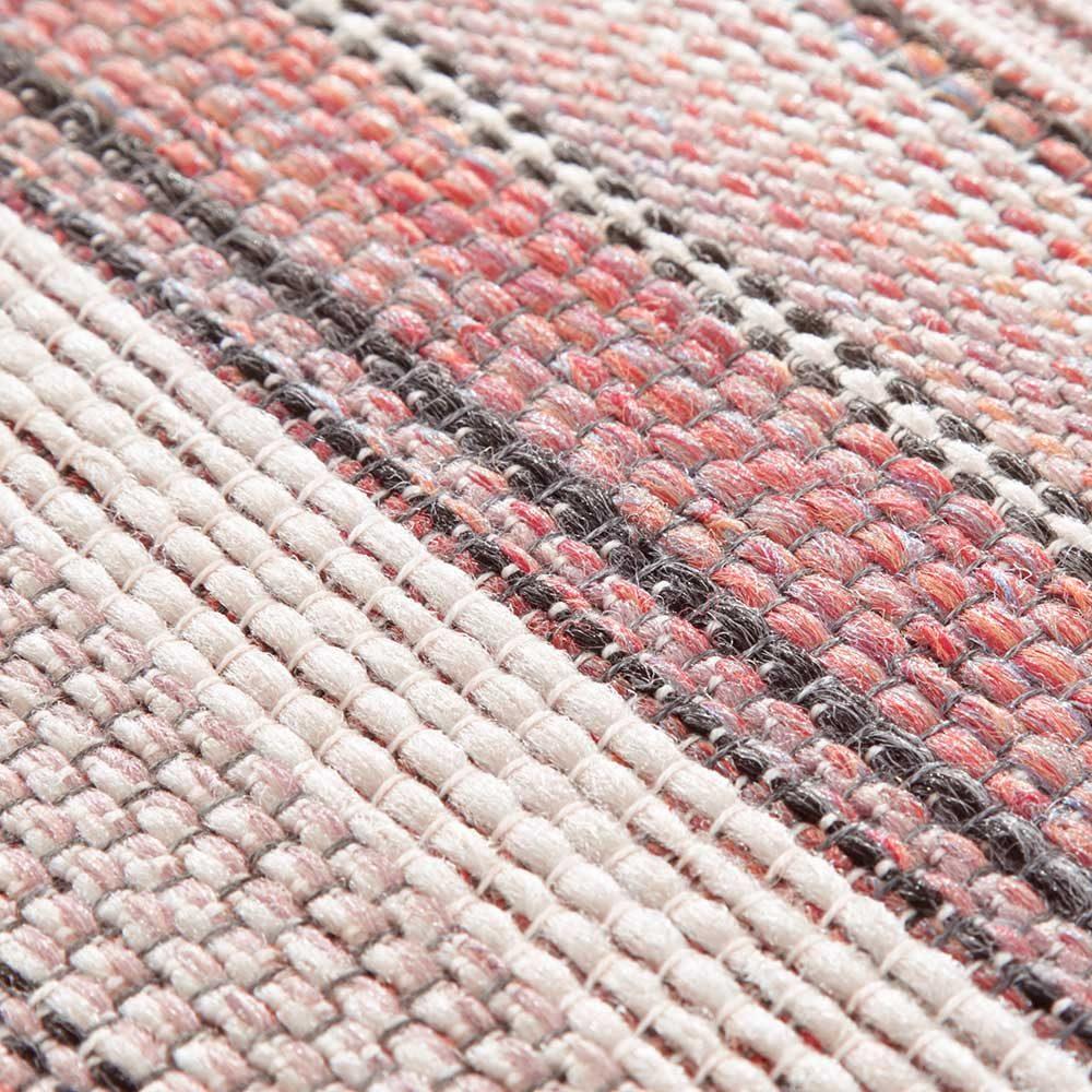 elle outdoor teppich rosa streifen creme rot 5