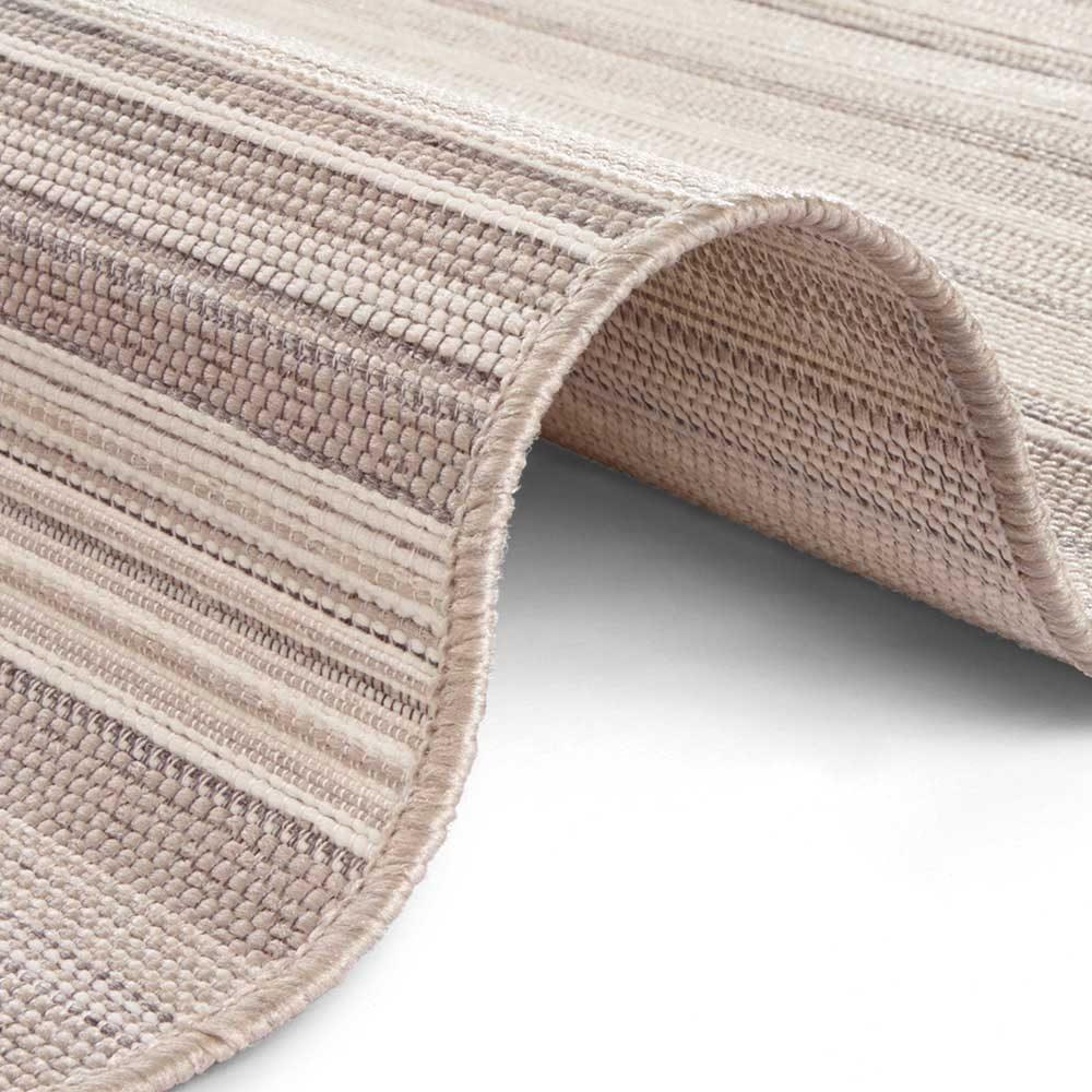 elle outdoor teppich streifen creme beige taupe 4