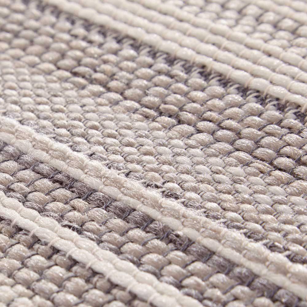 elle outdoor teppich streifen creme beige taupe 5