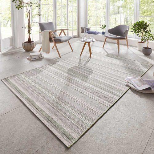 elle outdoor teppich streifen grün creme 1