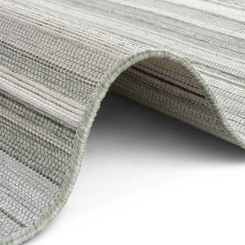 elle outdoor teppich streifen grün creme 4