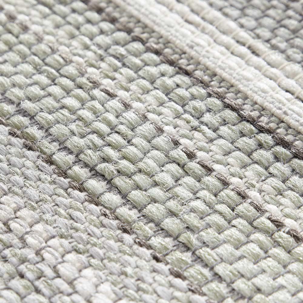 elle outdoor teppich streifen grün creme 5