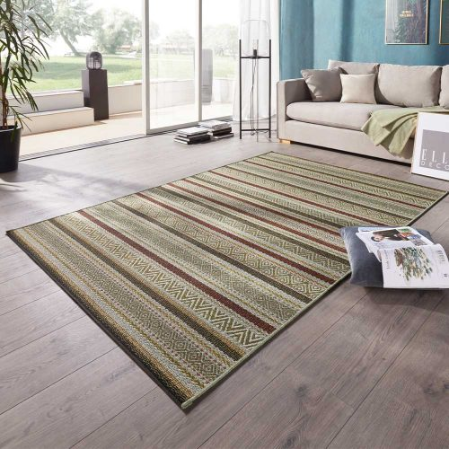 elle outdoor teppich streifen grün terra 1