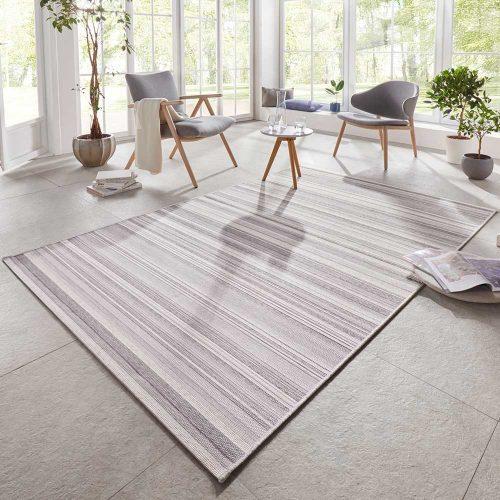 elle outdoor teppich streifen silber grau creme 1