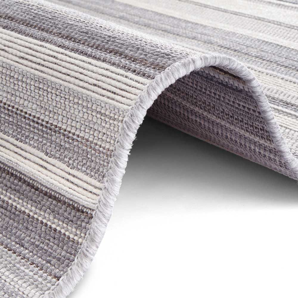 elle outdoor teppich streifen silber grau creme 4