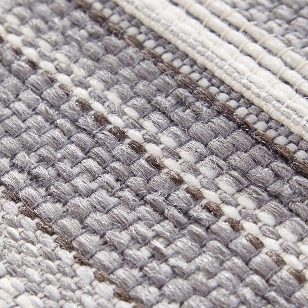 elle outdoor teppich streifen silber grau creme 5