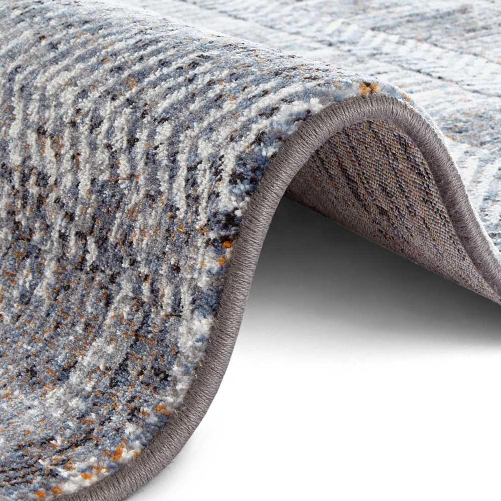 elle teppich handmade blau grau creme 4