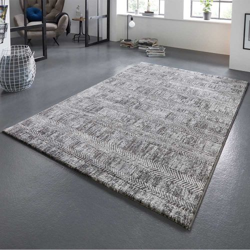 elle teppich handmade grau anthranzit 1