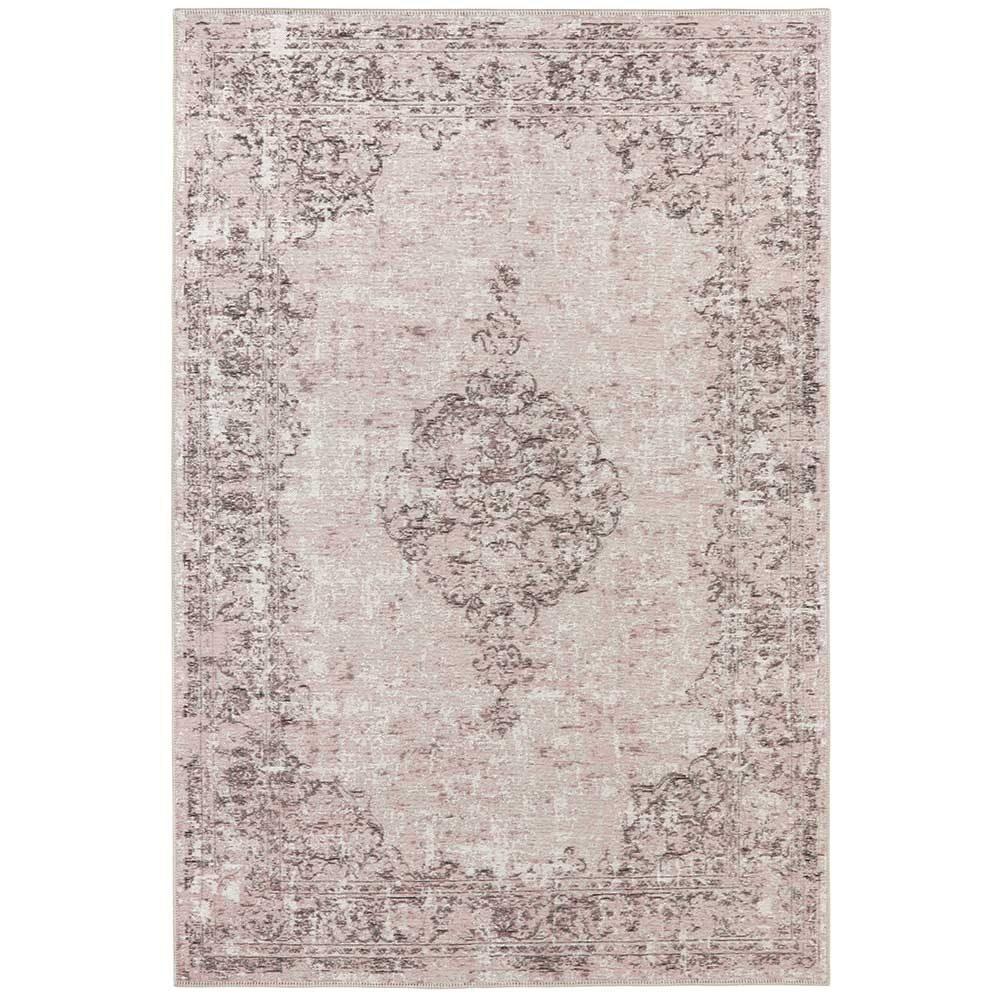 elle teppich handmade vertou rosa schwarz 2