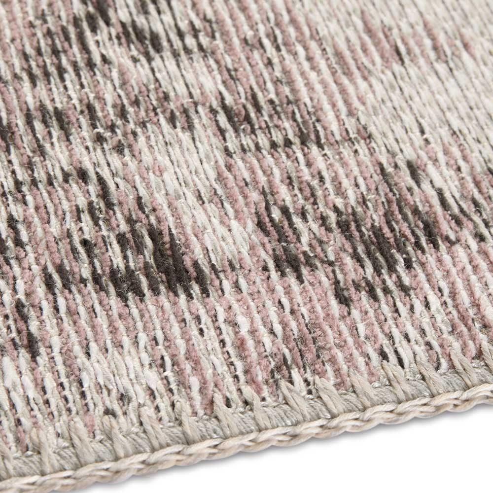 elle teppich handmade vertou rosa schwarz 5