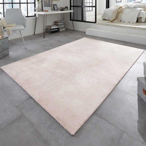 elle teppich marmor meliert rosa creme 1