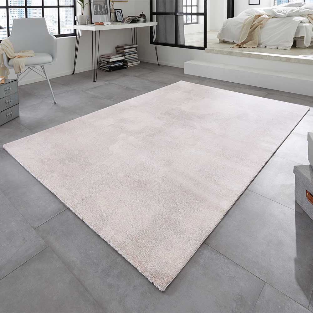 elle teppich marmor meliert rosa creme taupe 1
