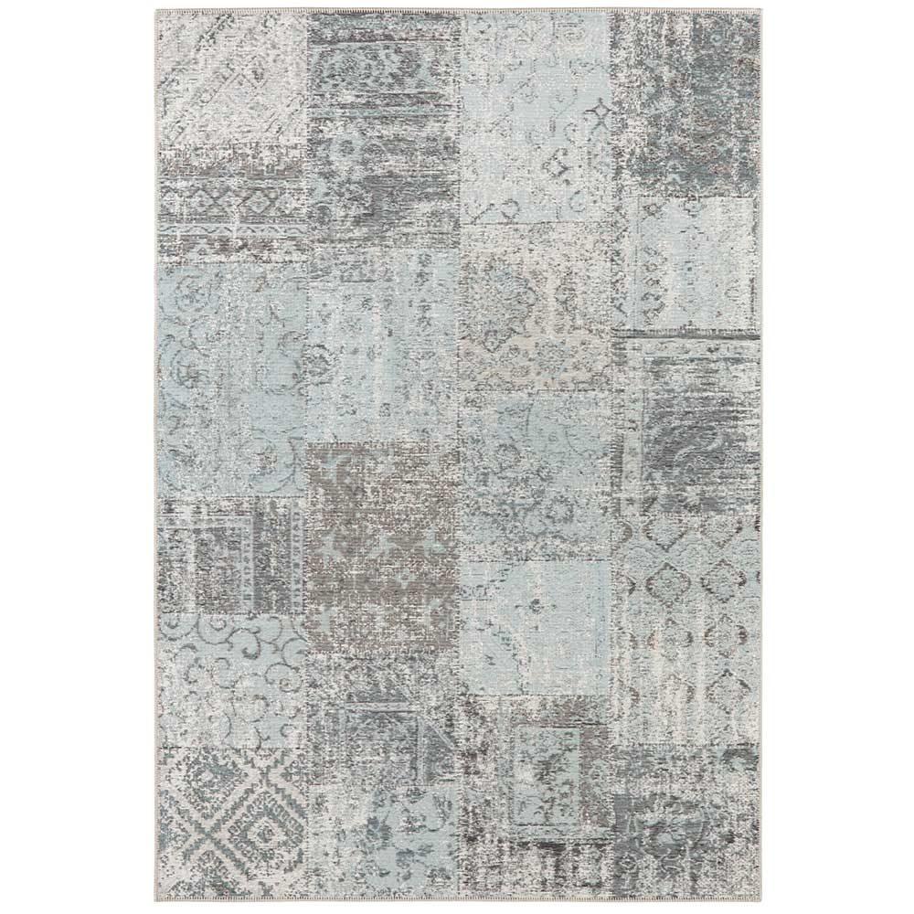 elle teppich patchwork hellblau schwarz 2