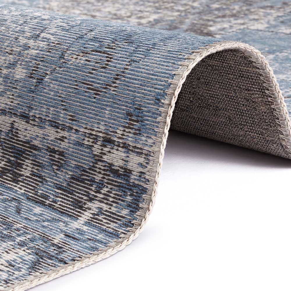 elle teppich patchwork jeansblau schwarz 4