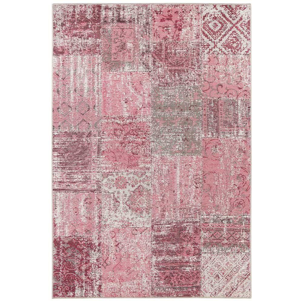 elle teppich patchwork pink 2