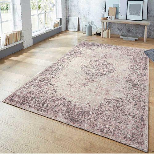 elle teppich vertou handmade pink schwarz 0001 2